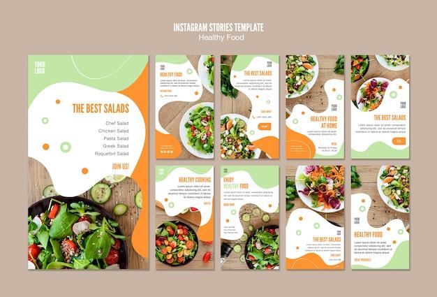 Offrez-vous des histoires instagram de nourriture saine
