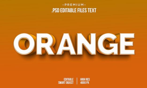 Orange moderne aime le style de texte gras dégradé 3d, effet de style de texte orange 3d, effet de texte orange 3d à l'aide de styles de calque
