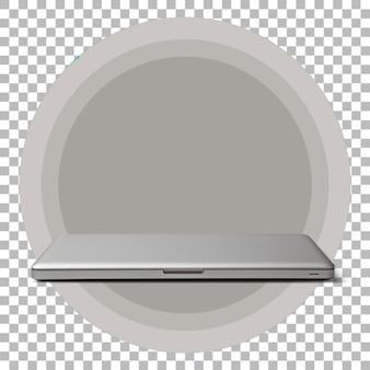 Ordinateur portable isolé sur fond transparent.