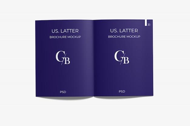 Ouverture du magazine de lettres américain mockup