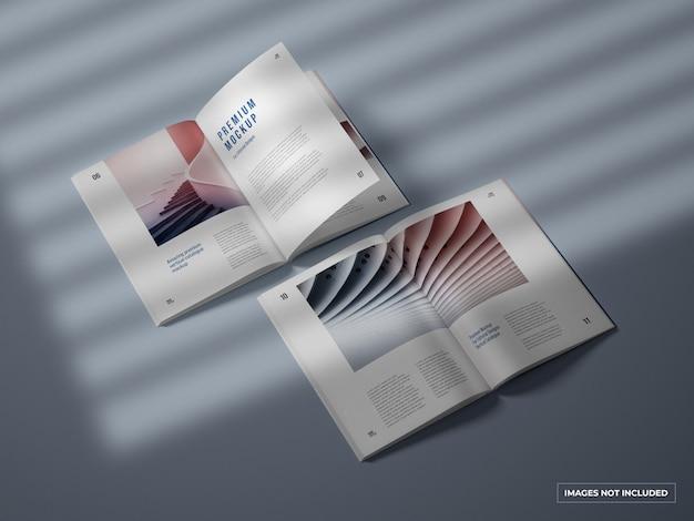 Ouvrir un catalogue vertical et une maquette de magazine