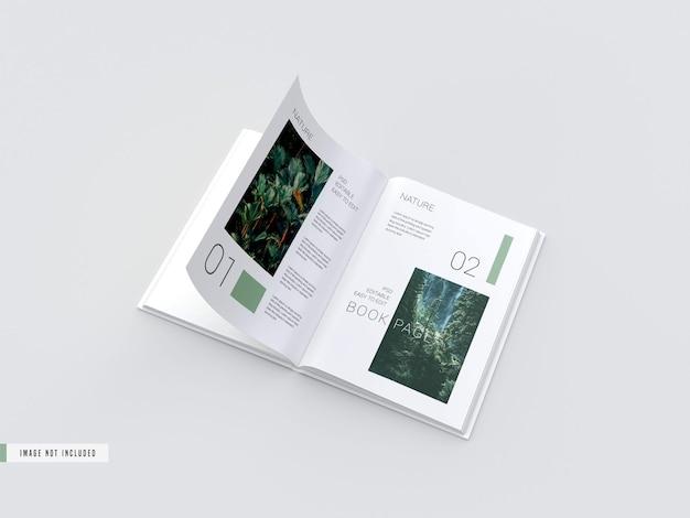 Ouvrir La Maquette Du Livre à L'intérieur Des Pages Psd gratuit