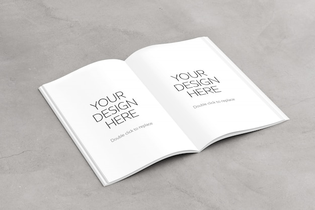 Ouvrir les pages du magazine