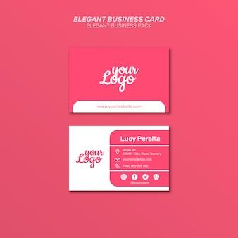 Pack de cartes de visite élégant