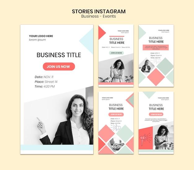 Pack d'histoires d'entreprise avec instagram