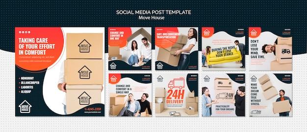 Pack de publication sur les réseaux sociaux move house