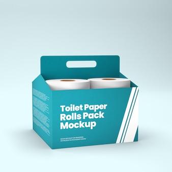 Pack de rouleaux de papier toilette maquette 3d