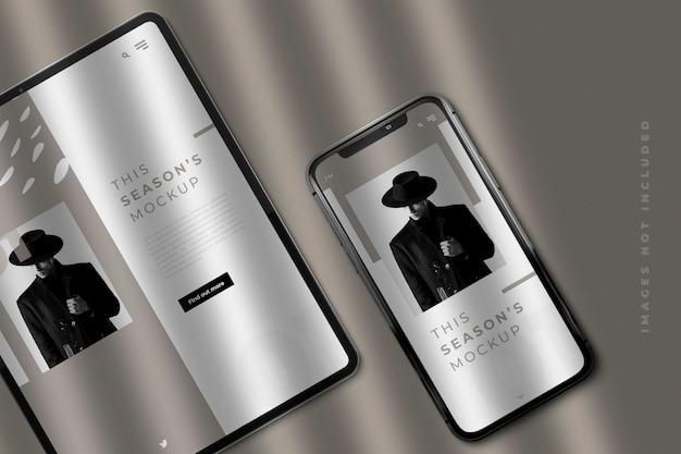 Pad et maquette de smartphone