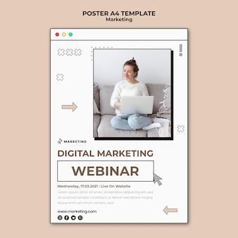 Page d'affiche de marketing numérique