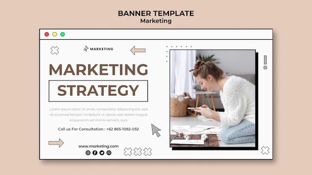Page de bannière de marketing numérique