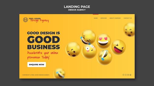 Page de destination de l'agence de design