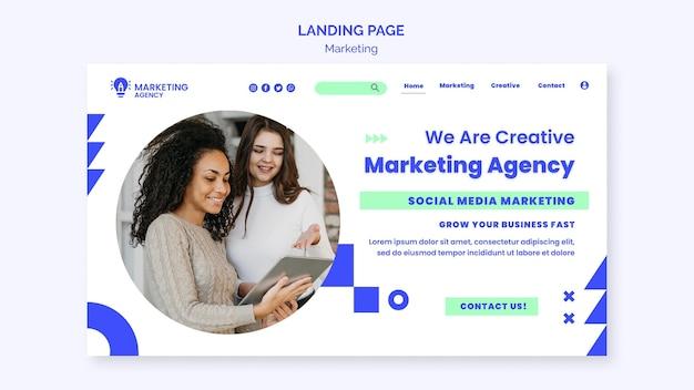 Page de destination de l'agence marketing