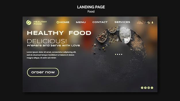 Page de destination des aliments sains