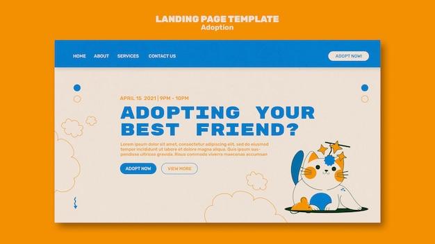 Page de destination des animaux illustrés