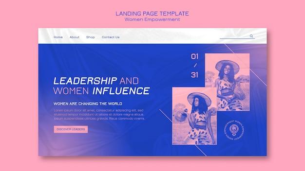 Page de destination de l'autonomisation des femmes