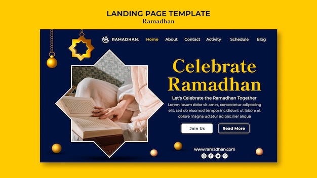 Page de destination de la célébration du ramadan