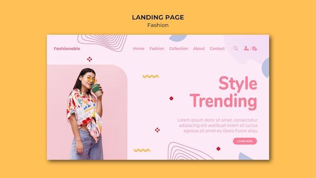 Page de destination de la collection de mode