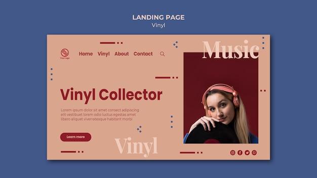 Page de destination de la collection de vinyle
