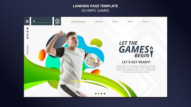 Page de destination de compétition sportive avec photo