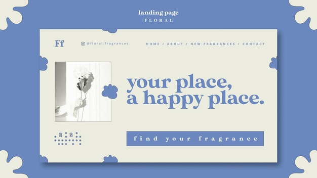 Page De Destination De Conception Florale Psd gratuit