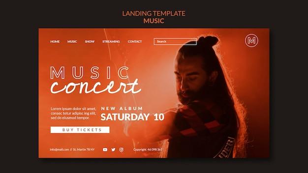 Page de destination des concerts de musique