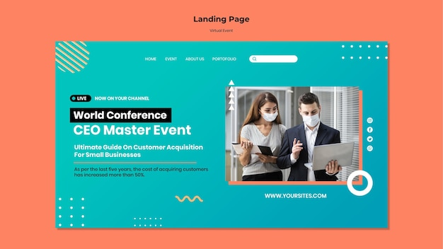 Page de destination de la conférence événementielle du chef de la direction