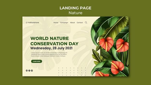Page de destination de la conservation de la nature