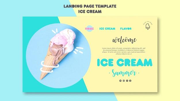 Page de destination de la crème glacée