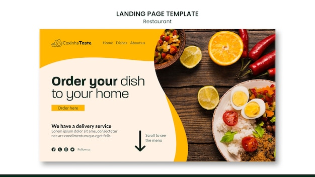 Page de destination de la cuisine brésilienne