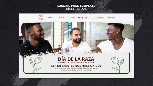 Page de destination de dia de la raza