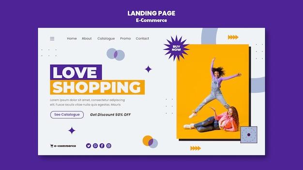Page de destination du commerce électronique