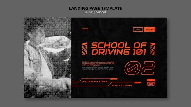 Page de destination du concept de conduite