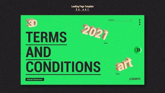 Page de destination du concours d'art 3d