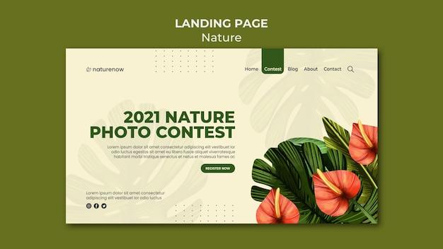 Page de destination du concours photo nature