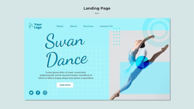 Page de destination du danseur de ballet