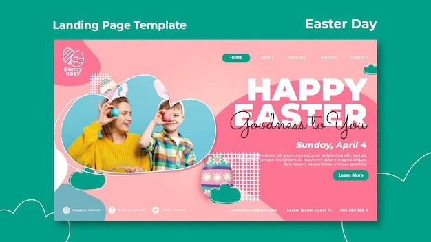 Page de destination du jour de pâques