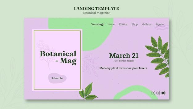 Page de destination du magazine botanique