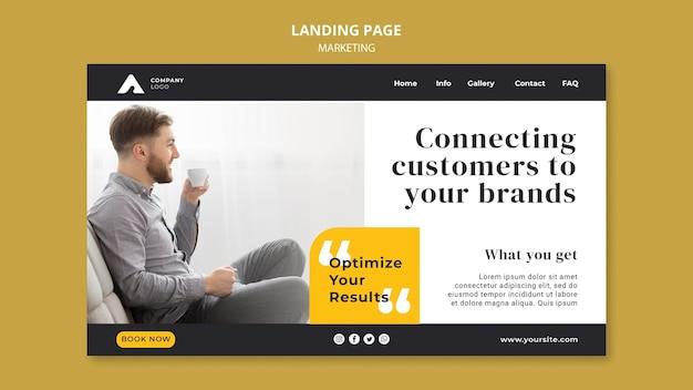 Page de destination du marketing d'entreprise