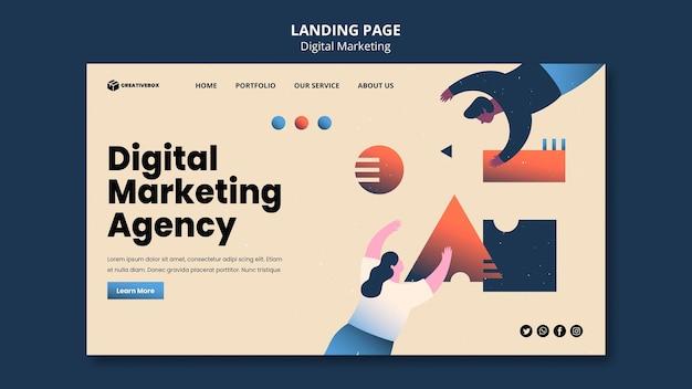 Page de destination du marketing numérique