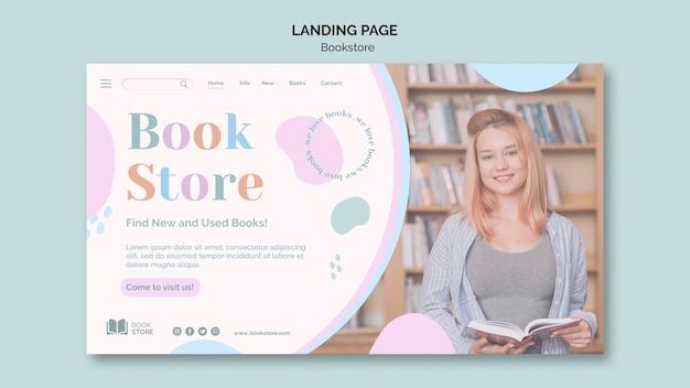 Page de destination du modèle d'annonce de librairie