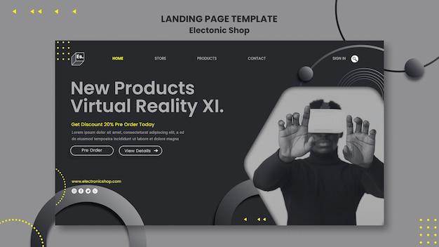 Page De Destination Du Modèle De Boutique électronique PSD Premium
