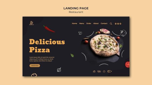 Page de destination du modèle de restaurant italien
