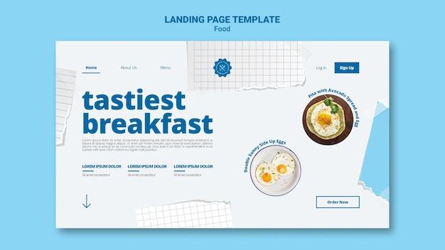 Page de destination du petit-déjeuner le plus savoureux