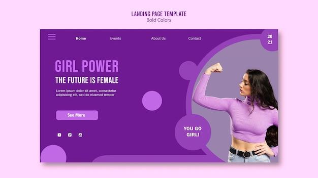 Page de destination du pouvoir des filles