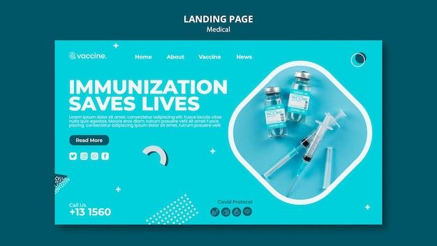 Page de destination du vaccin contre le coronavirus