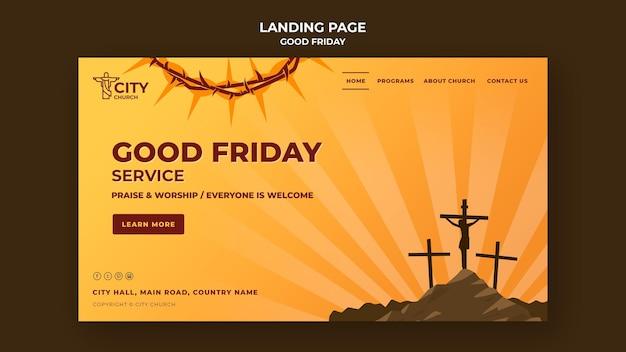 Page de destination du vendredi saint