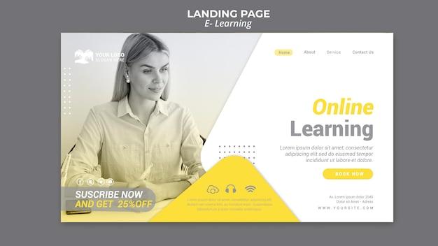 Page de destination e-learning
