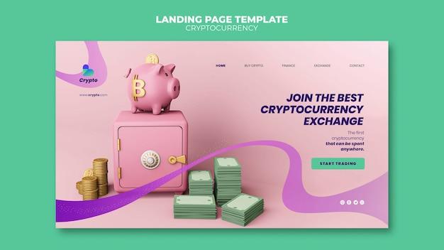 Page de destination de l'échange de crypto-monnaie