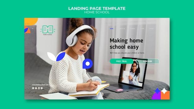 Page de destination de l'enseignement à domicile