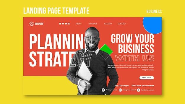 Page De Destination De L'entreprise Psd gratuit